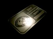A 500 gram silver bullion bar produced by Johnson Matthey