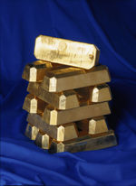 Gold ingots from the Bank of Sweden
