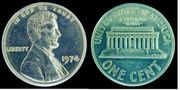 1974 aluminum cent from the Smithsonian.