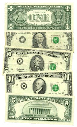 Various Federal Reserve Notes