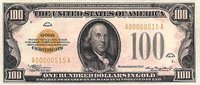 Series 1934 $100 Gold Certificate, Obverse