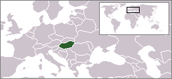 Location of Hungary